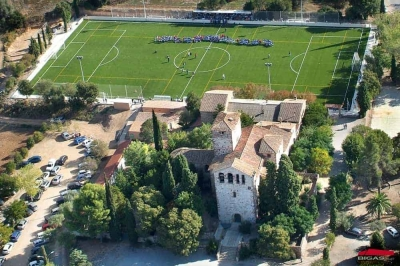 Vista aèria Zona Esportiva de Llerona