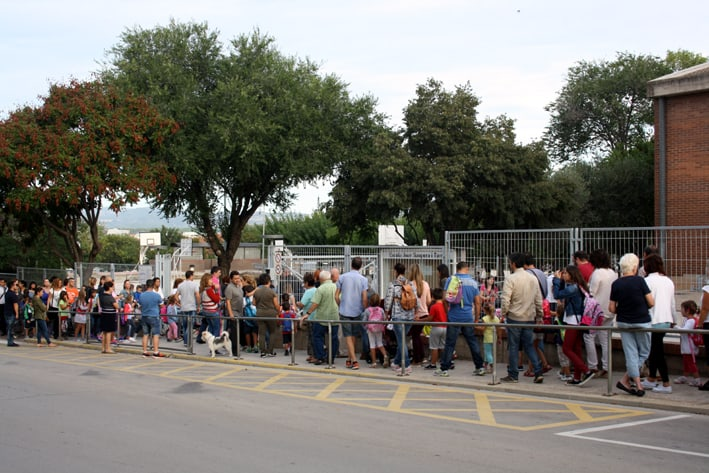 Primer dia de curs a l'Escola Joan Sanpera i Torras