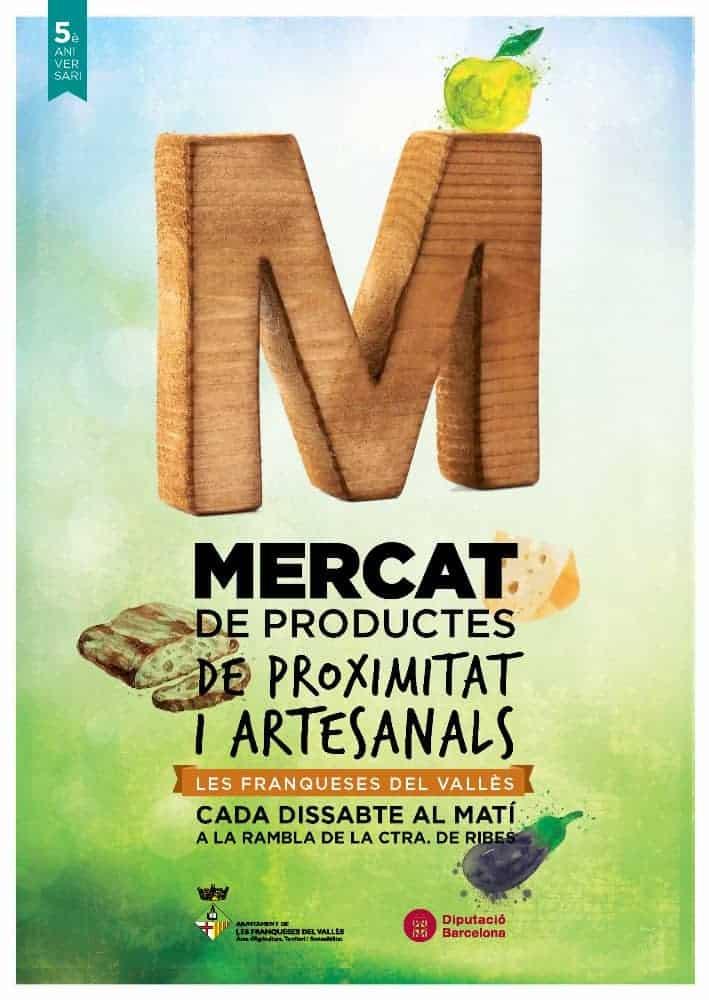 Cartell del Mercat de Productes Artesanals i de Proximitat