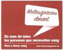 Missatge als donants de sang