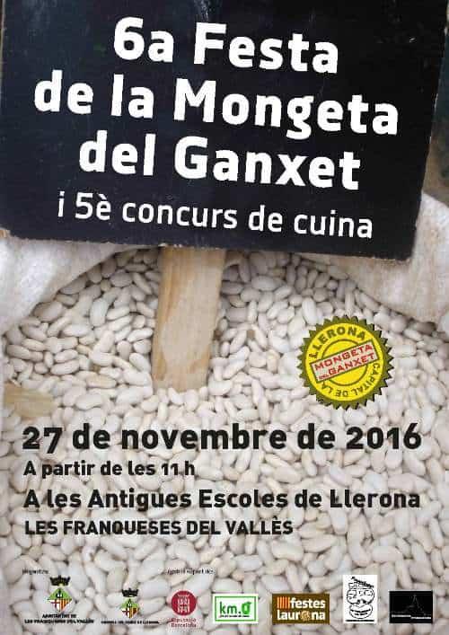 Cartell Festa Mongeta Ganxet 2016