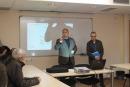 Benvinguda de l'alcalde, Francesc Colomé (CiU) i el regidor de Pla de Barris, Joan Antoni Marín (PSC) als plans d'ocupació