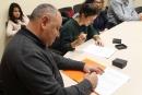 Signatura del conveni amb el Col.lectiu Cristià l'Estel del Matí