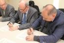 Signatura del conveni aquest matí a l'Ajuntament