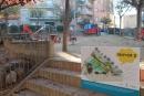 Plafó de la proposta guanyadora a la plaça de l'Esbarjo