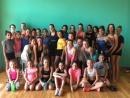 Foto de grup de les participants al II Campus Internacional de Natació Artística de les Franqueses