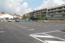 Nou asfaltat de l'aparcament del carrer Sant Josep