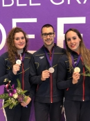 Cecilia Jiménez, Pau Ribes i Txell Mas, al French Open