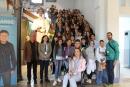 Foto de grup durant la visita a l'Ajuntament