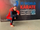 Iona Lobato al Campionat Mundial de karate