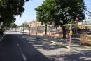 Carrer d'Aragó amb obres pas soterrat