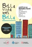 Cartell rehabilitació d'edificis a Bellavista