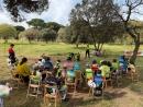 Visita de Juan José Méndez i Juan del Río al campus de Setmana Santa de l'Escola Municipal de Ciclisme