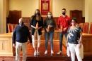 Jordi Camp de l'equip Montesa Talent School Trial, Clàudia Julià del Club Natació Granollers i Judith Sanchís del Club Atletisme Granollers
