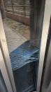 Porta de l'ascensor de la plaça de la Malagarba