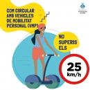 No superis els 25 km/h