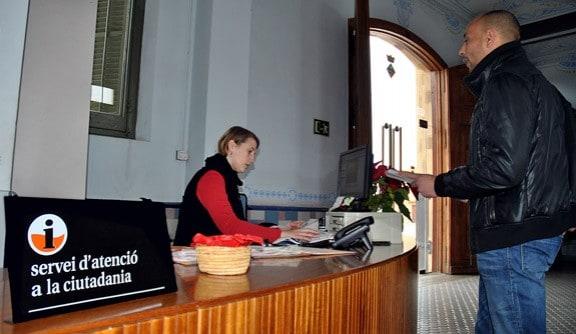 Oficines del Servei d'Atenció a la Ciutadania de l'Ajuntament.